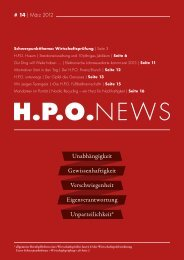 2012 Ausgabe 1 H.P.O. News - HPO Wirtschaftspartner