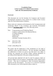 Consultation Paper on the Creation of A Unified Carrier Licence ...