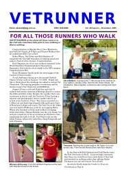 for all those runners who walk - ACT Veterans Athletics Club
