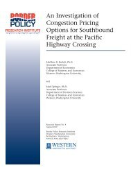 An Investigation of Congestion Pricing Options for Southbound ...
