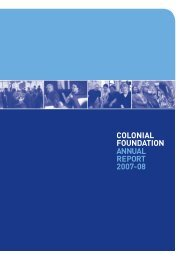 2007-2008 Annual Report - Colonial Foundation