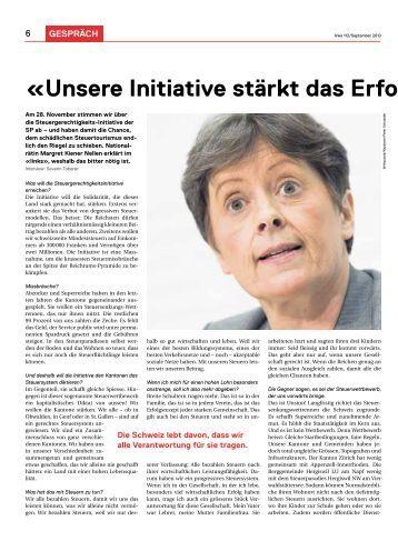 GESPRäCH «Unsere Initiative stärkt das Erfolgsmodell S