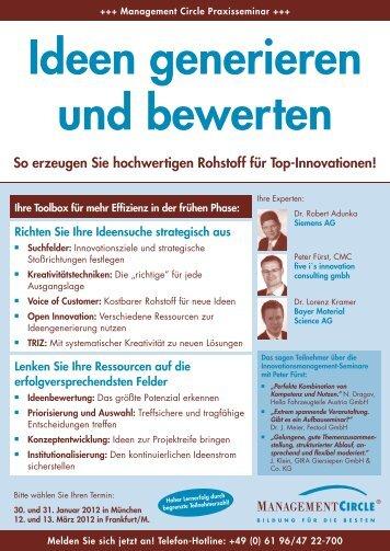 Seminar: Ideen finden & bewerten - Management Circle AG