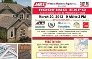 March 20, 2012 9 AM to 2 PM - Modern Builders Supply