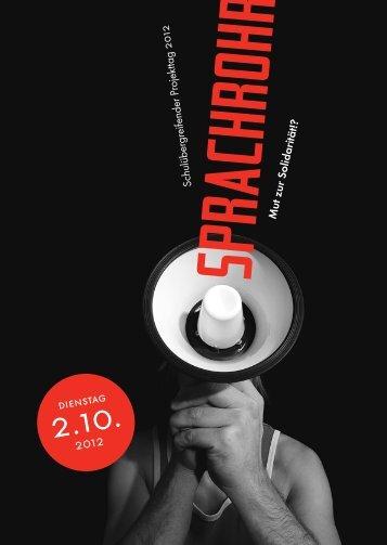 SPRACHROHR - Schulen für Aufklärung