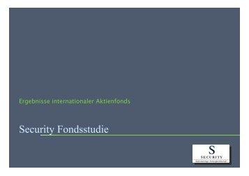 Security Fondsstudie - Security KAG