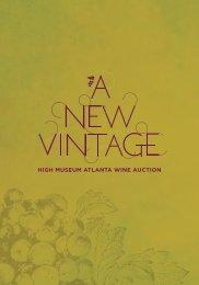 2013 Auction catalog - Atlanta Wine Auction