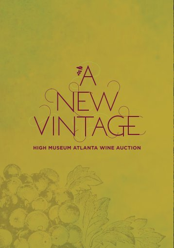2013 Auction catalog - Atlanta Wine Auction