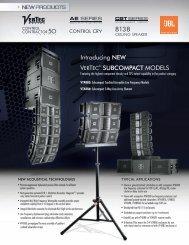 Introducing NEW VERTEC® SUBCOMPACT modEls