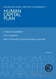 ACT Human Capital Action Plan - ACT Government