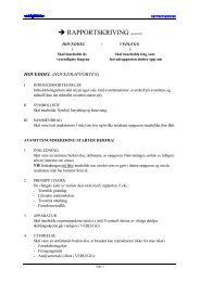 → RAPPORTSKRIVING (generelt) - Materialteknologi