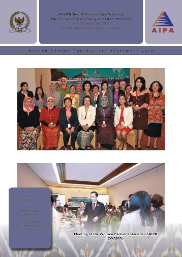 Second Edition, Tuesday, 18 t h September 2012 ASEAN Inter ...