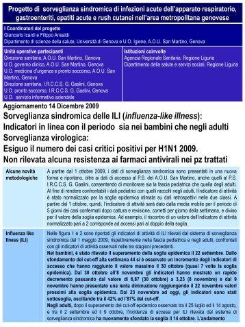 report del 14 dicembre 2009 - EpiCentro