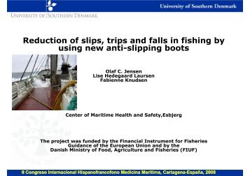 Reduction of slips, trips and falls in fishing by using new anti ... - SEMM