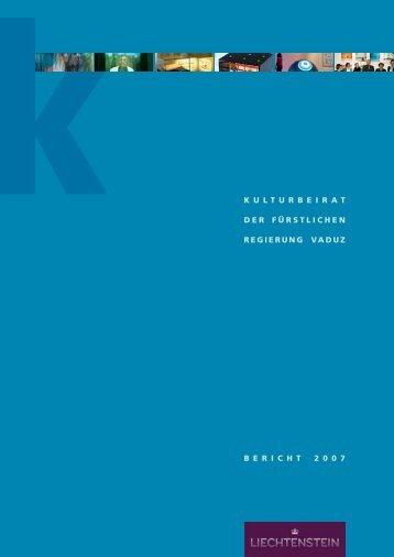 Kulturbericht - Landesverwaltung Liechtenstein