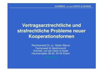 Vertragsarztrechtliche und strafrechtliche Probleme neuer ...