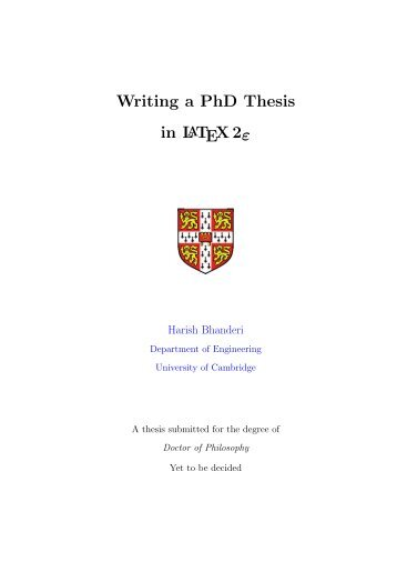 Engineering Phd Thesis