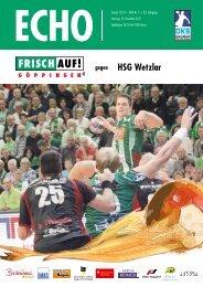HSG Wetzlar - FRISCH AUF! Göppingen