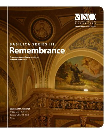 remembrance - Milwaukee Symphony Orchestra