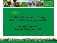 Sustainability Along the Supply Chain: a British farmer perspective ...