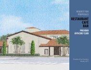 RFP Officers' Club Restaurant - Presidio Trust