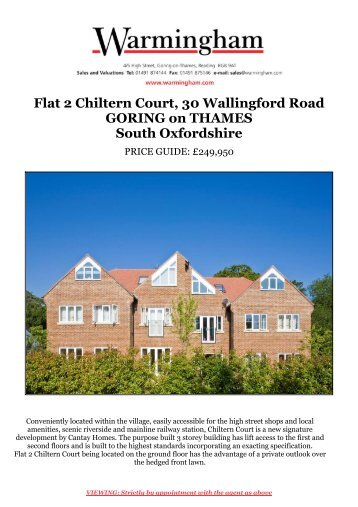 Flat 2 Chiltern Court, 30 Wallingford Road GORING ... - Warmingham