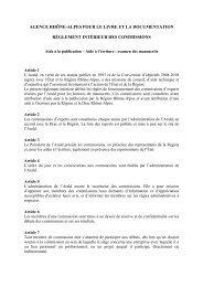 Réglement des commissions - Arald