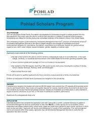 Pohlad Scholars Program - Scholarship Management Services