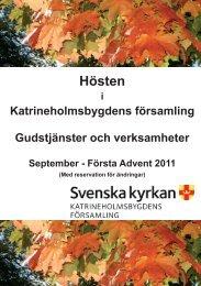 Hösten - Katrineholmsbygdens församling