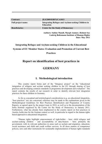Germany Country Report.pdf - Ludwig Boltzmann Institut für ...