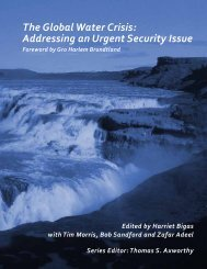 The Global Water Crisis: Addressing an Urgent Security ... - Le Devoir