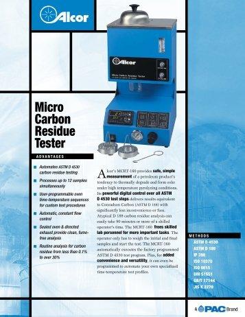 MCRT 160 product brochure - John Morris Scientific