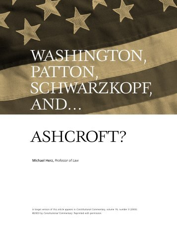 ashcroft? - Benjamin N. Cardozo School of Law
