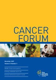 3681 CF November 07 covers - Cancer Forum