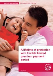 A lifetime of protection with .exible limited premium ... - AIA Singapore