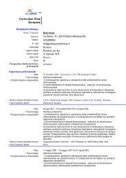 curriculum vitae - ABCsalute.it