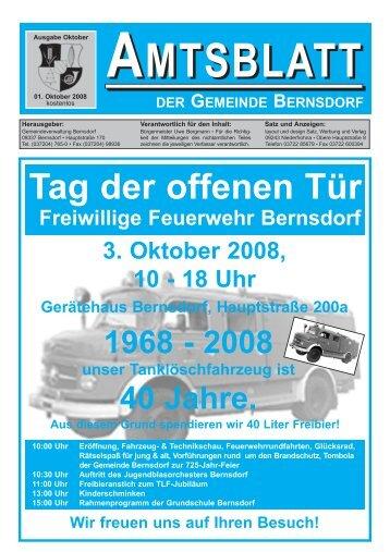 Amtsblatt der Gemeinde Bernsdorf vom 01. Oktober 2008