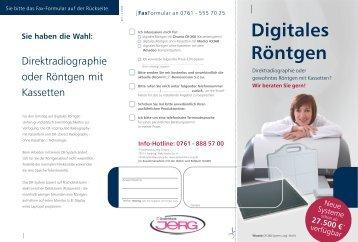 Digitales Röntgen Sie haben die Wahl - IT-Systemhaus JERG GmbH