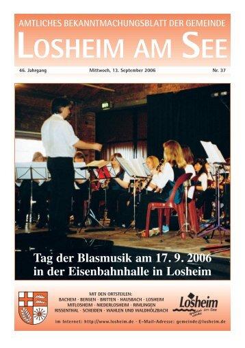 KW 37_2006 Losheim - Gemeinde Losheim am See