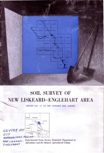 soil survey of new liskeard-englehart area - Agriculture and Agri ...