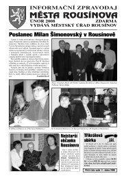 Poslanec Milan Šimonovský v Rousínově