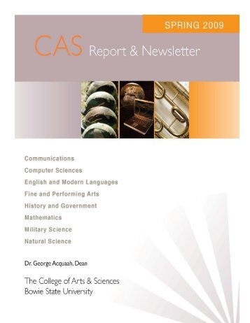 CAS Newsletter Spring 2009 5th Edition - Bowie State University ...