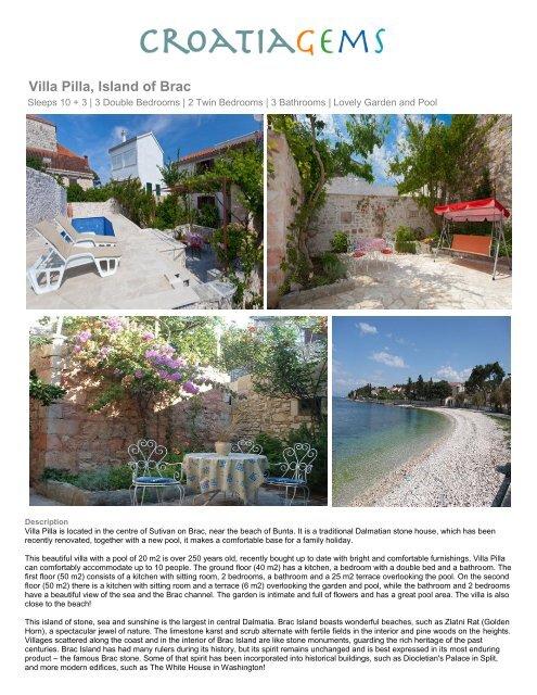 Villa Pilla, Island of Brac - CroatiaGems
