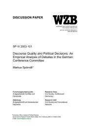 Discourse quality and political decisions - Bern Center for ...