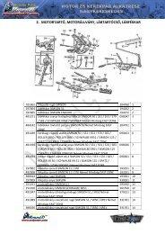 2. motortartó, motorállvány, lábtartócső, lábfékkar - Moped 91