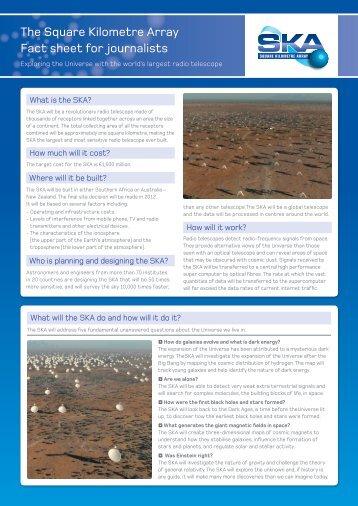 Factsheet - SKA