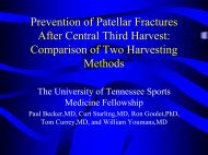 Prevention of Patellar Fractures After Central Third Harvest ...