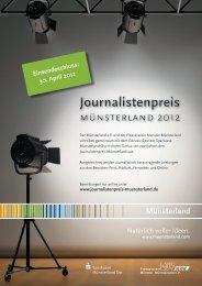 Informationen Journalistenpreis - Wirtschaft im Münsterland