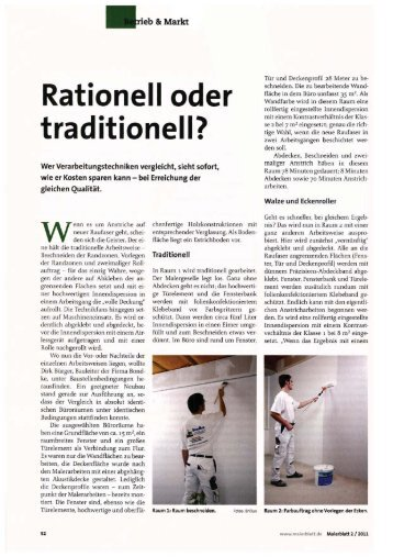 Malerblatt 02/2011: Rationell oder traditionell? - Brillux