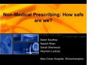 Non-Medical Prescribing: How safe are we? - Society for ...